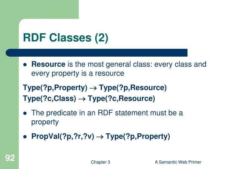RDF Classes (2)
