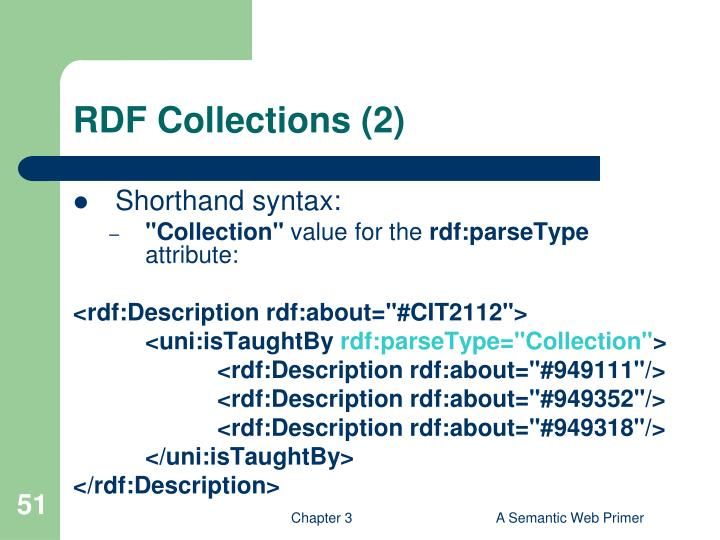 RDF Collections (2)