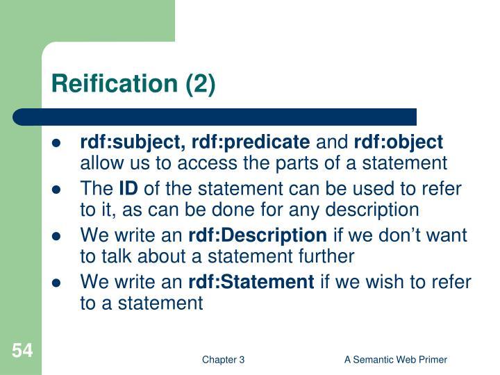 Reification (2)
