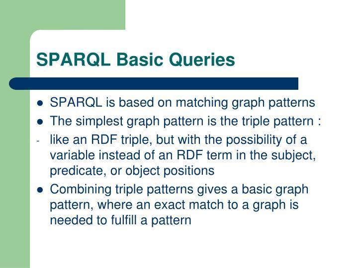 SPARQL Basic Queries