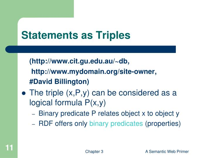 Statements as Triples