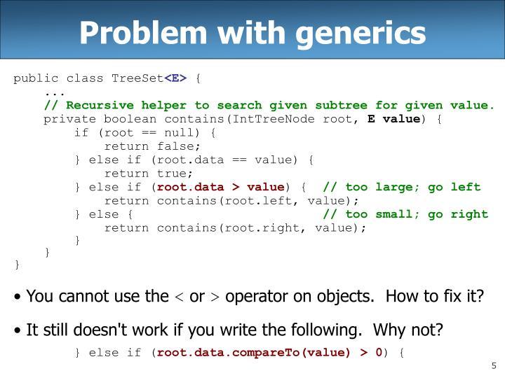 Problem with generics