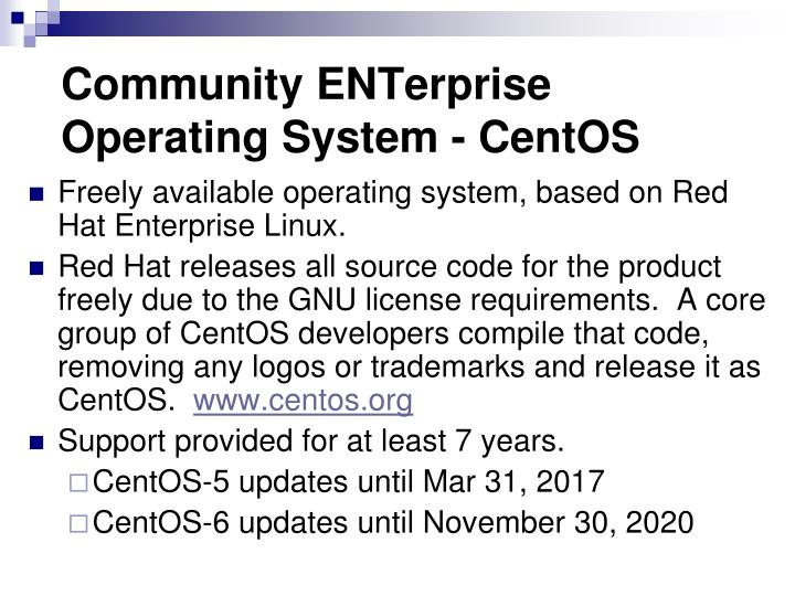 Community ENTerprise Operating System - CentOS