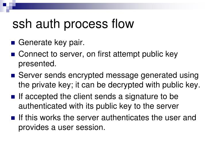 ssh auth process flow
