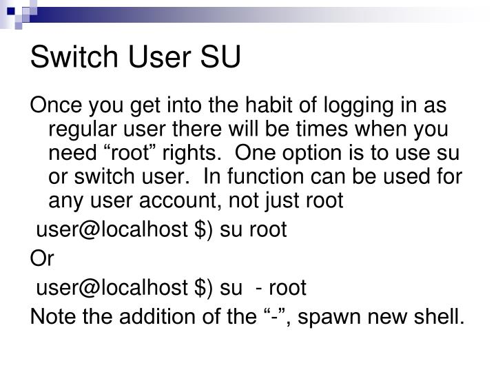 Switch User SU