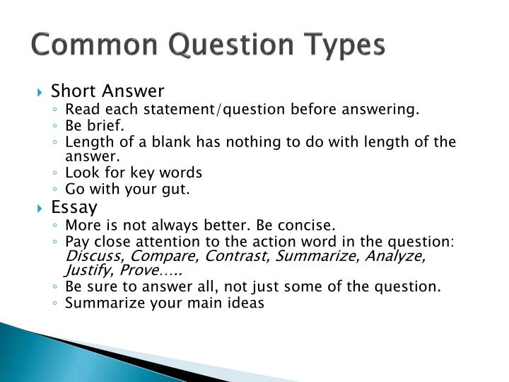 Common Question Types