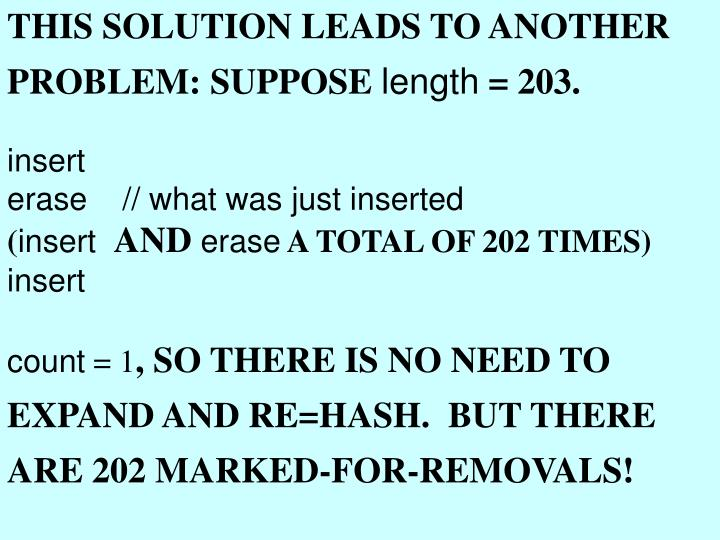 THIS SOLUTION LEADS TO ANOTHER