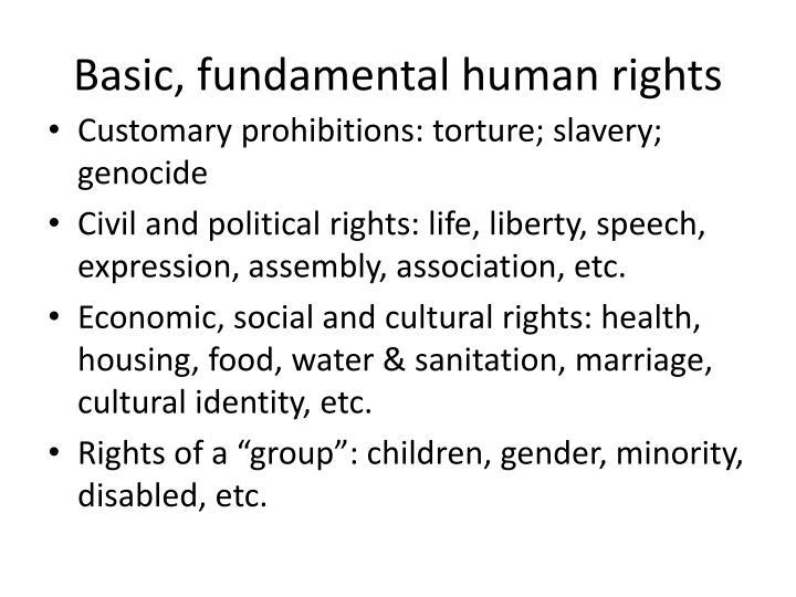 Basic, fundamental human rights