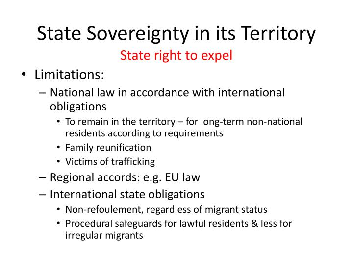 State Sovereignty in its Territory