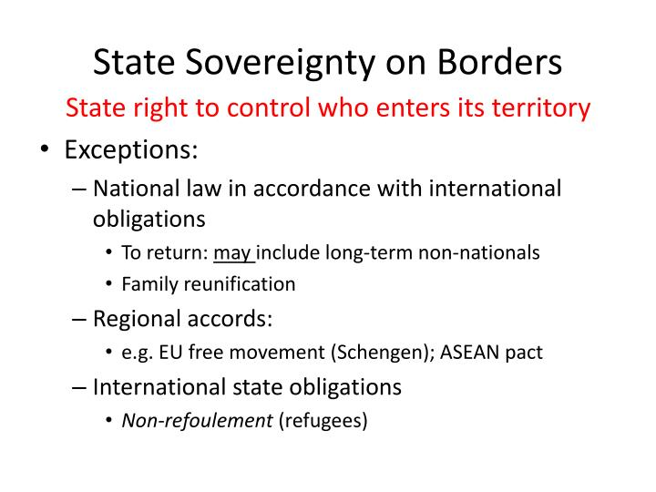 State Sovereignty on Borders