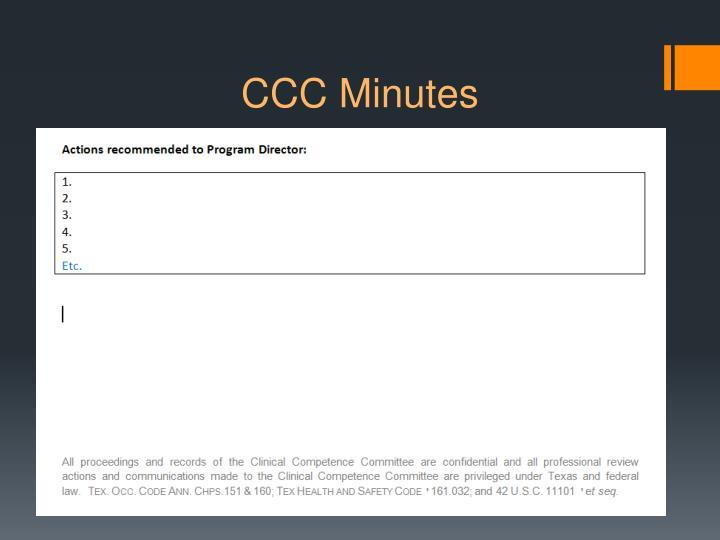 CCC Minutes