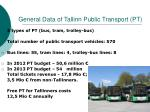 general data of tallinn public transport pt