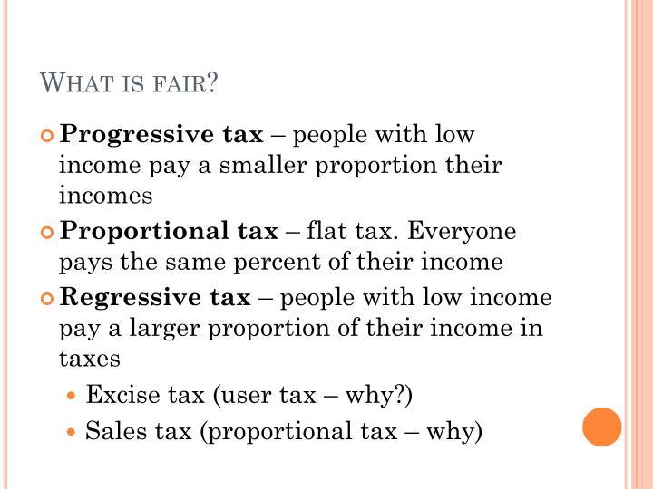 progressive tax fairness