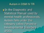 autism in dsm iv tr