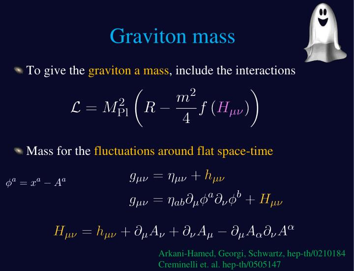 Graviton mass