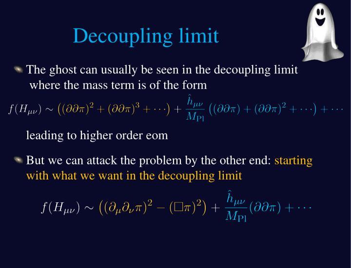 Decoupling limit