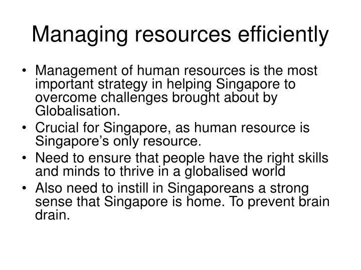 Managing resources efficiently