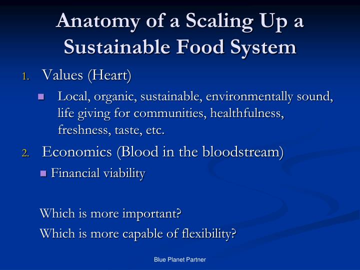 Anatomy of a Scaling Up a Sustainable Food System