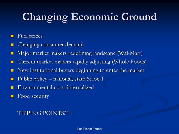 Changing Economic Ground
