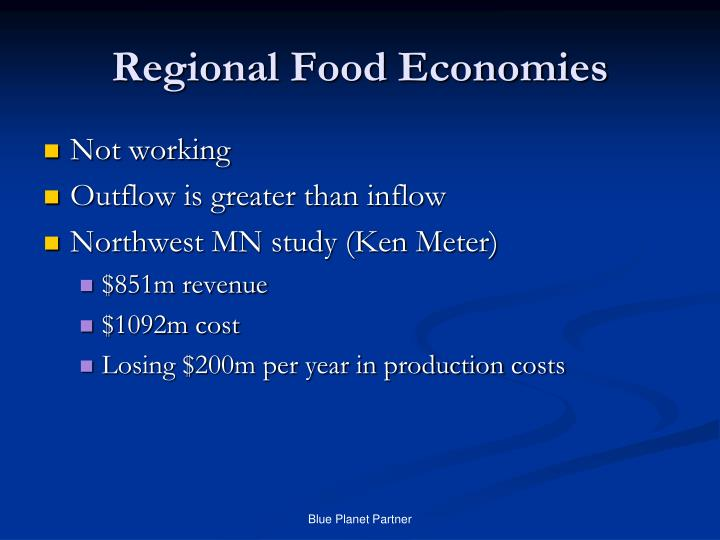 Regional Food Economies