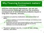 why financing environment matters for development