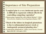 importance of site preparation
