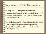 importance of site preparation1