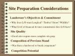 site preparation considerations