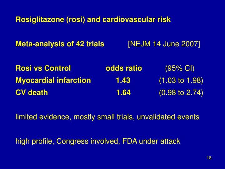 Rosiglitazone (rosi) and cardiovascular risk