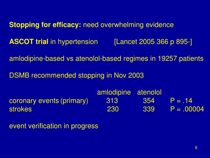 Stopping for efficacy: