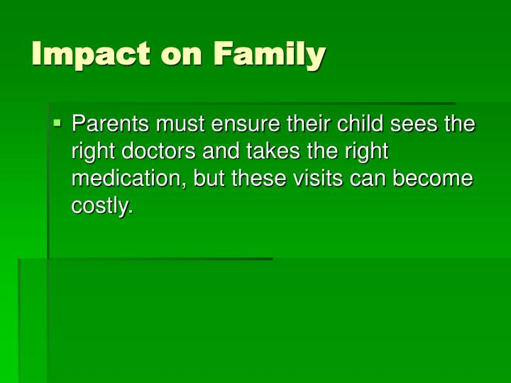 Impact on Family