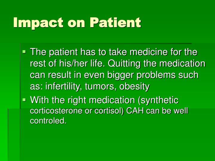 Impact on Patient