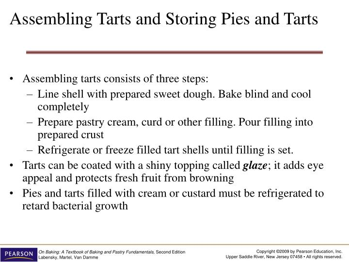 Assembling Tarts and Storing Pies and Tarts