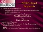 nnrti based regiments