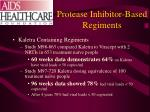 protease inhibitor based regiments