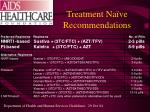 treatment na ve recommendations