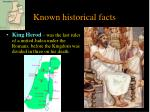 known historical facts1