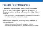 possible policy responses