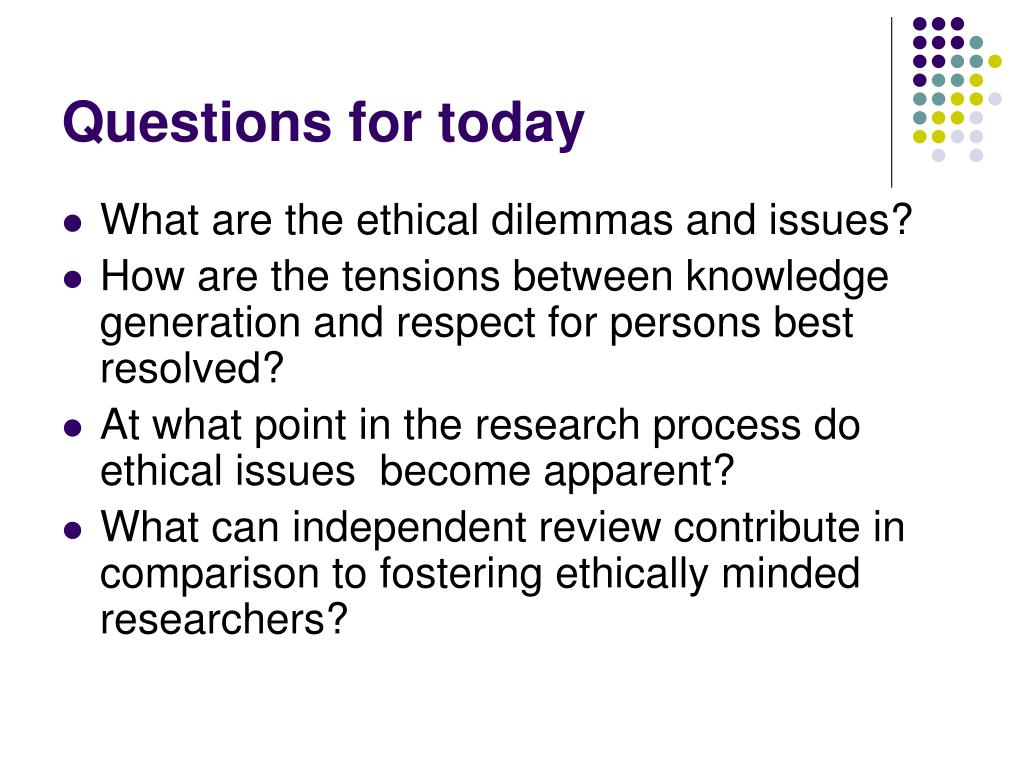 PPT - Ethical policies and issues for educational research