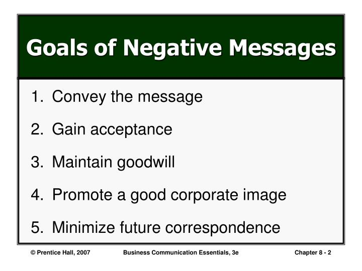 Ppt writing negative messages powerpoint presentation id6526482 goals of negative messages thecheapjerseys Images