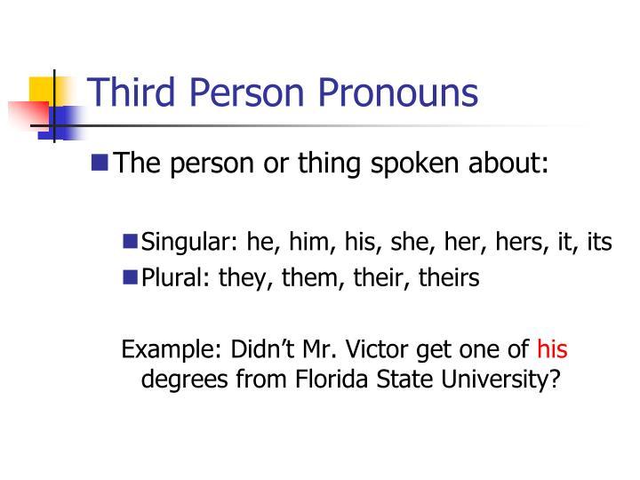 Third Person Pronouns