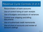 revenue cycle controls 2 of 2