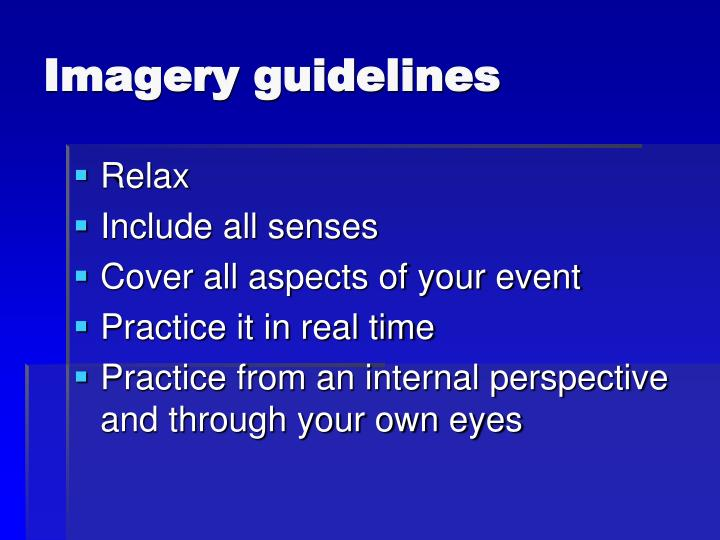 Imagery guidelines