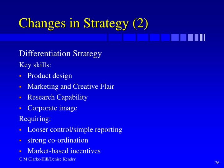 Changes in Strategy (2)
