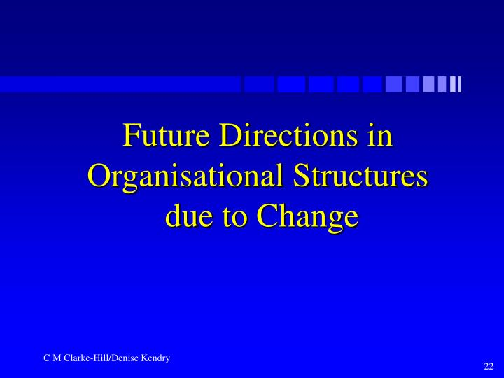 Future Directions in Organisational Structures
