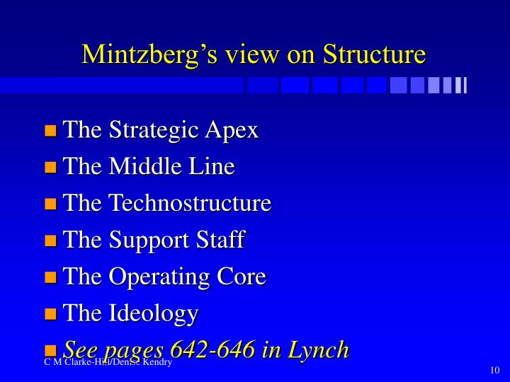 Mintzberg's view on Structure