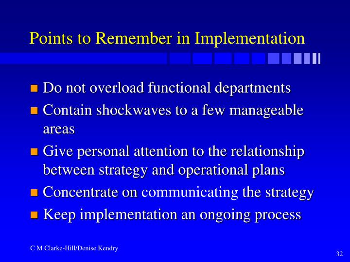 Points to Remember in
