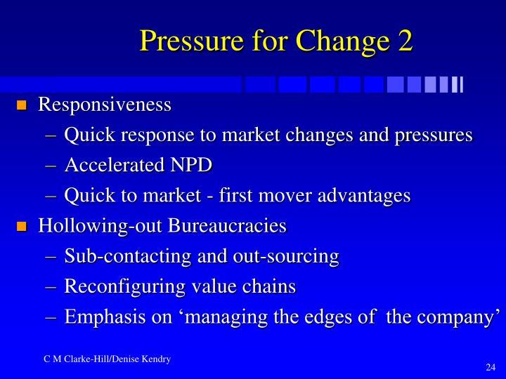 Pressure for Change 2