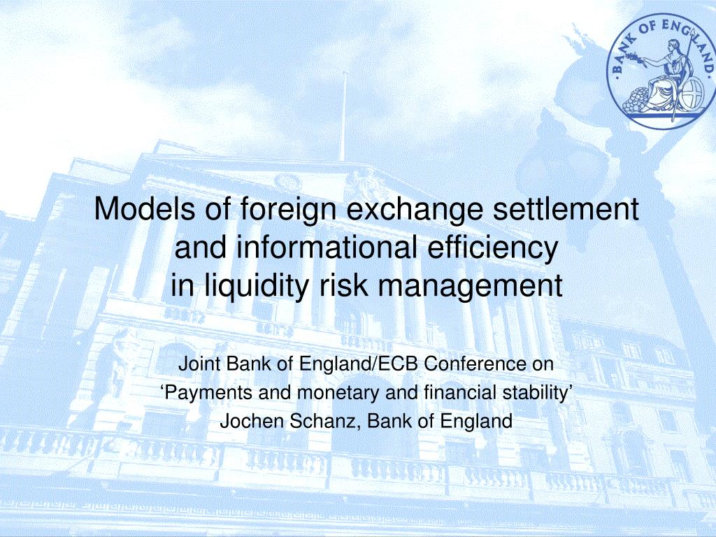 Models Of Foreign Exchange Settlement And Informational Efficiency In Liquidity Risk Management Point Ppt Presentation