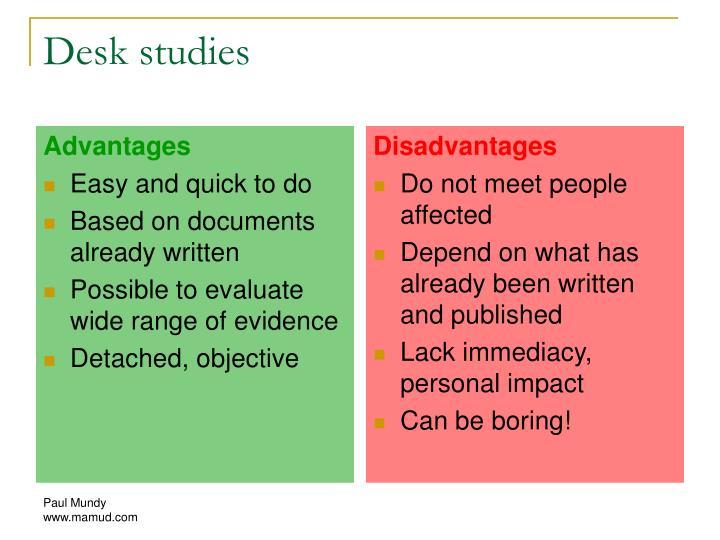 Desk studies
